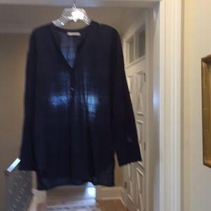 Vince Navy cotton tunic (hl)